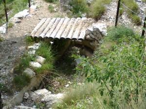 ponticello di legno all'avanposto Austro-Ungarico