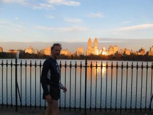 corsa all'alba in Central Park